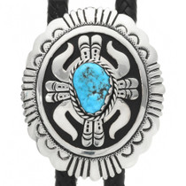 Turquoise Nugget Overlaid Sterling Bolo Tie 31630