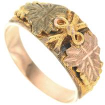 Vintage Black Hills 10K Gold Band Ladies Ring