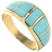 Vintage 14K Gold Turquose Ladies Ring