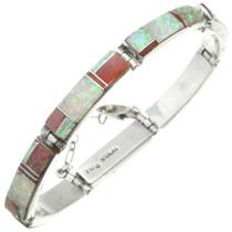 Vintage Opal Silver Link Tennis Bracelet