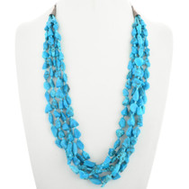 Vintage Turquoise Five Strand Necklace