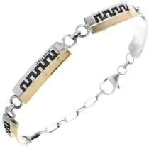 Navajo Gold Silver Tennis Link Bracelet