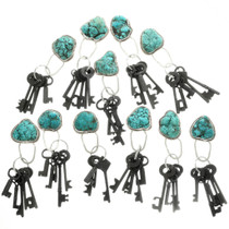 Turquoise Magnesite Nugget Key Ring 31700