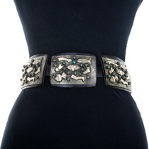 Sterling Silver Turquoise Western Concho Belt 31705