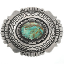 Old Pawn Tommy Singer Turquoise Belt Buckle 31711