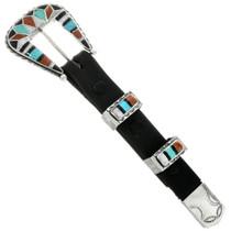 Old Pawn Zuni Ranger Belt Buckle Set 31714