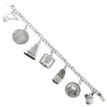 Vintage Mexican Silver Charm Bracelet 31717