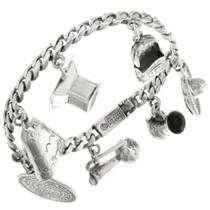 Sterling Silver Charm Bracelet 31717
