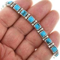 Turquoise Silver Tennis Bracelet 31721