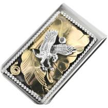 Vintage Gold Silver Eagle Money Clip 31722