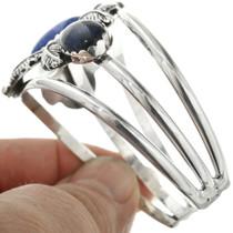 Navajo Sterling Silver Cuff Lapis Bracelet 31725