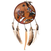 Vintage Cherokee Buffalo Antelope Shield 31736