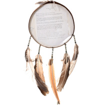 Hand Painted Leather Cherokee Shield 31736
