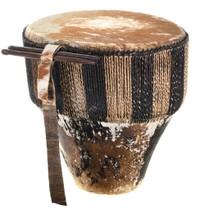 Vintage African Hide Wood Drum 31737