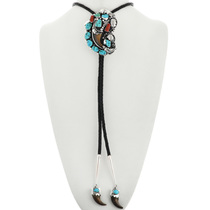 Navajo Bear Claw Turquoise Nugget Bolo Tie 31738