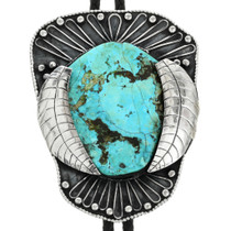 Old Pawn Turquoise Silver Bolo Tie 31743