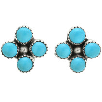 Turquoise Silver Post Earrings 31745