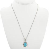 Native American Blue Turquoise Pendant 31752