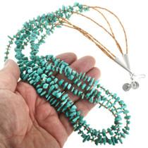 Three Strand Turquoise Heishi Necklace 31767