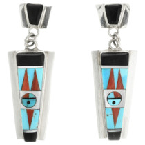 Inlaid Zuni Kachina Earrings  31779