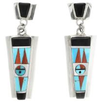 Inlaid Zuni Kachina Earrings  31779