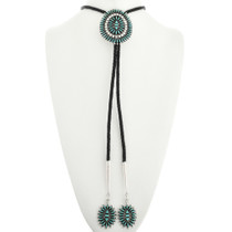 Blue Green Turquoise Bolo Tie 31786