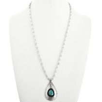 Native American Turquoise Pendant Necklace 31793