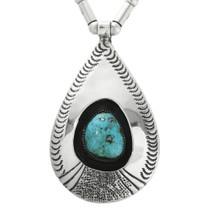 Vintage Turquoise Navajo Silver Pendant 31793