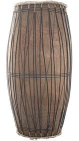 Vintage African Wood Drum Tall Hand Carved Design 31809