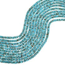 Genuine Turquoise Rondelle Beads 31902