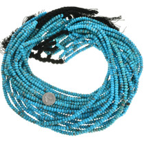 High Grade Turquoise Untreated Rondelle Bead 31912