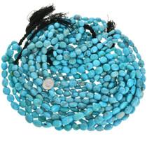 Untreated Arizona Turquoise Nuggets Bead Strand 31917