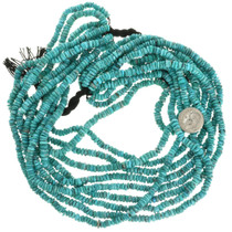 Green Turquoise Heishi Beads Nugget Style 31921