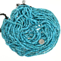 Santo Domingo Style Heishi Natural Untreated Turquoise Beads 31922