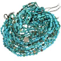 Southwest Arizona Turquoise Nuggets Bead Strand 31932