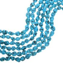 Natural Kingman Turquoise Beads 31934