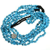 Blue Kingman Natural Turquoise Bead Strand 31934