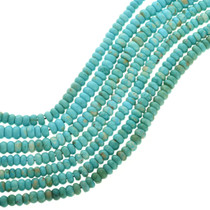 Natural Kingman Turquoise Rondelle Beads 31937