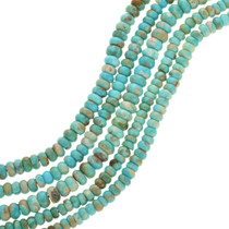 Natural Kingman Turquoise Rondelle Beads 31941