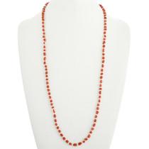 Navajo Red Coral Necklace 31874