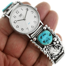 Sleeping Beauty Turquoise Silver Watch 31884