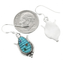 Turquoise Zuni Corn Earrings 32007
