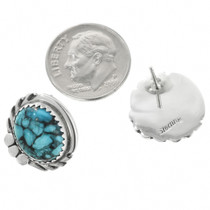 Turquoise Post Earrings by Navajo Delores Cadman 32013