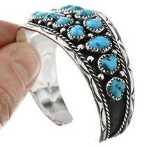 Turquoise Set in Sterling Silver Cuff 32016