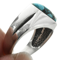 Native American Hammered Silver Ring 32025