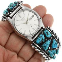 Blue Turquoise Zuni Watch by Robert Leekya 32071
