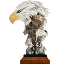 """Randall Reading """"Freedom Reigns"""" Eagle Sculpture 32079"""