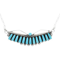 Sleeping Beauty Turquoise Silver Necklace