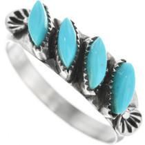 Zuni Turquoise Silver Ladies Ring 32097