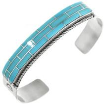 Navajo Turquoise Inlay Bracelet 32109